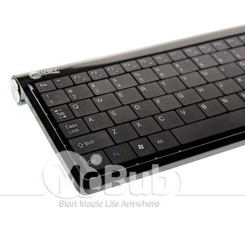 Jeway Mini Mouse Wireless 2.4 GHz e teclado ultra slim para PC / Laptop / Notebook Preto