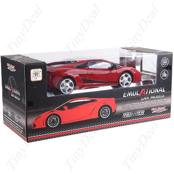 High Speed ferrari Controle Remoto R / C Car Racing Modelo de carro com luz LED