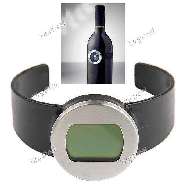 Electronic Design Red Wine Bottle Temperatura Medidor Termômetro Digital