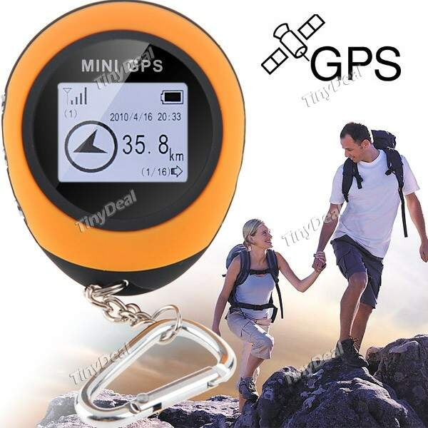 Mini Handheld GPS Rastreador Location Navigator Localizador Keychain para Viagem Outdoor Escalada