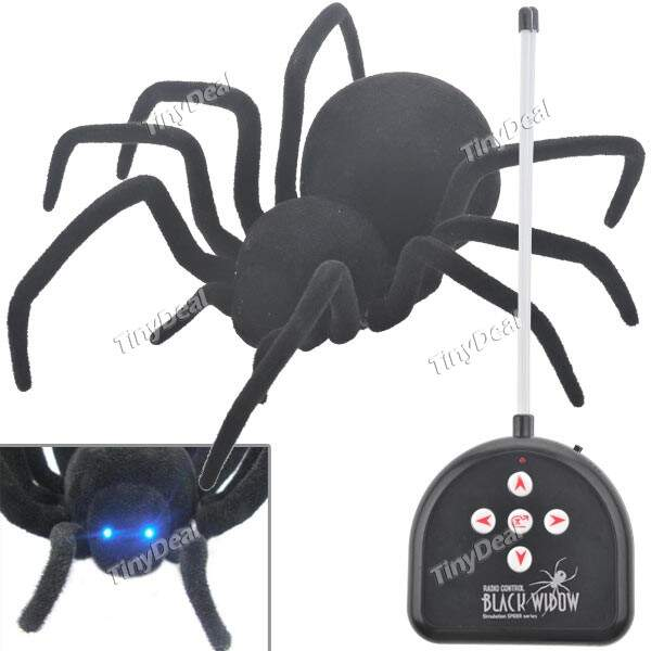 27MHZ RC Radio Control Black Widow Simulation Spider Series