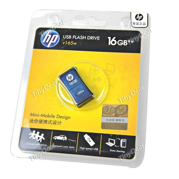 (HP) 16GB V165W memória flash USB Mini Drive Memory Disk U para PC Laptop
