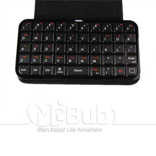 Teclado Wireless Bluetooth BLK caso de capa dura + Cabo USB Apple iPhone 4 4G 4S