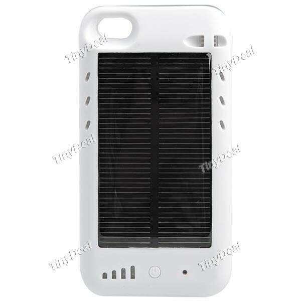 2400mAh Voltar Solar Portátil Capa Power Backup backup Carregador de Bateria Power Pack Carregador para iPhone 4G 4S