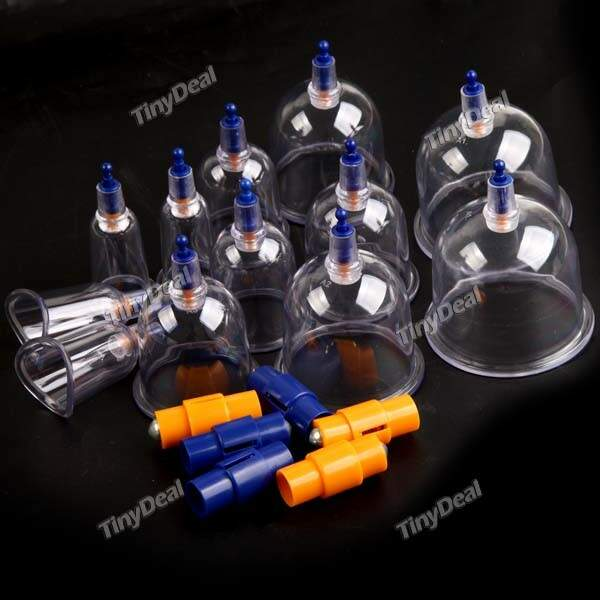 12-Cup Medical Set dispositivo Cupping Tradicional Therapy fisioterapia