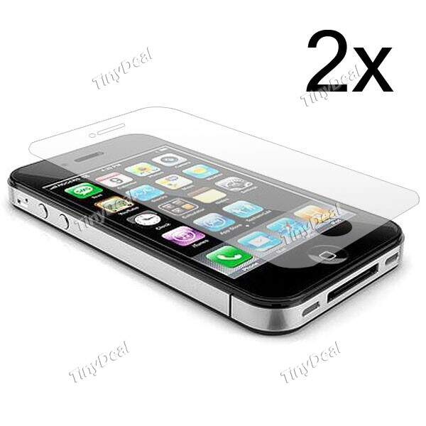 2 x Reutilizável Crystal Clear LCD Screen Protector capa de filme protetor para Apple iPhone 4G