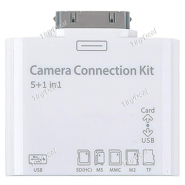 5 em 1 Camera Connection Kit Adaptador USB com SD (HC) MS M2 MMC leitor de cartão TF para iPad