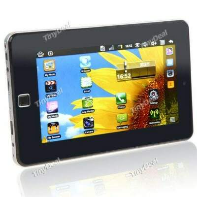 """7\\\"""" Android 2.2 OS Tablet PC Flat PC 3G Cell Phone w/ WiFi Camera (CPU 800MHz 256MB RAM 4GB HD)"""