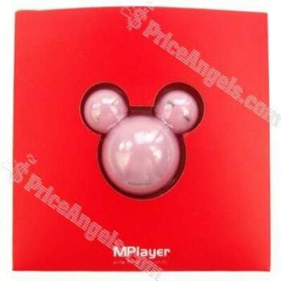 5 ª Geração 10 Rosto LED Alterar Mplayer 4GB / estilo Mickey Mouse MP3 Player - Rosa