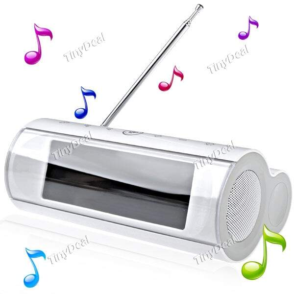 Multi-purpose Speaker LCD Music Player Amplificador com FM Alarm Clock Radio Relógio para Celular MP3