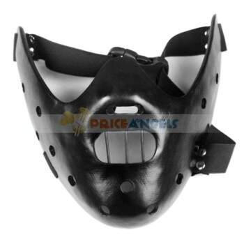 Halloween Costume Make-up Silêncio Props Fantasia dos Inocentes Hannibal Mask Paintball (Preto)
