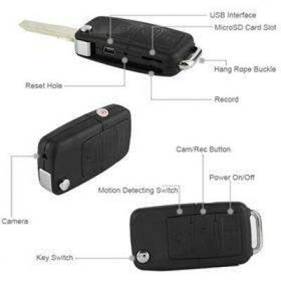 BMW Car Key Spy DVR S818 Câmera Car Camera