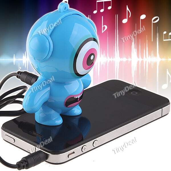 áudio porta Mini Speaker para iPod iPhone 4S iPad 2 Cell Phone MP3 Player