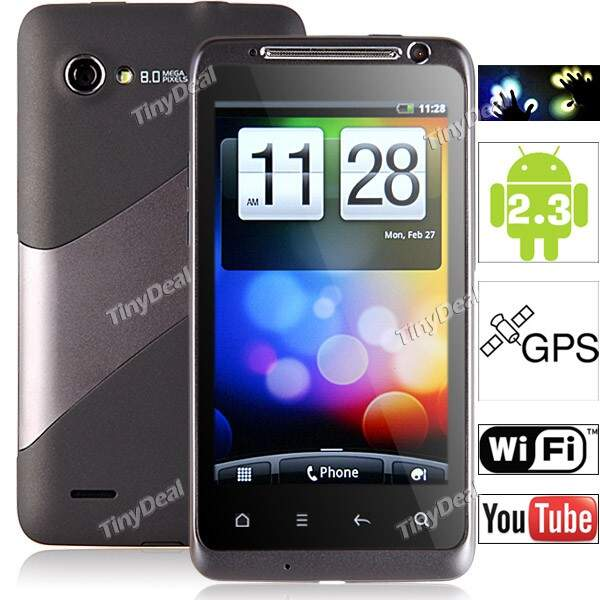 Sharp Original Multi-touch touchscreen capacitivo AT & T T-Mobile Vodafone Android 2.3 Phone inteligente com GPS WiFi