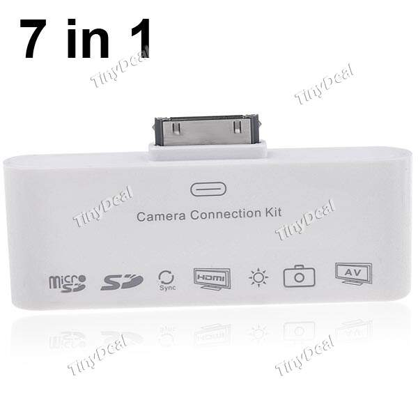 HDTV Digital AV Adapter HDMI Camera Connection Kit para iPad 2/3 iPod Touch iPhone 4 4G/4S