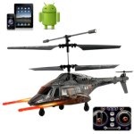 """iHelicopter \""""Apache\"""" - iPad / iPhone / Touch Phone / Android iPod Controlado RC (Camouflage Noite)"""