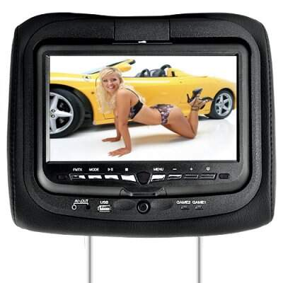 9 polegadas Headrest DVD Player + Gaming System + Transmissor FM (Par Black)