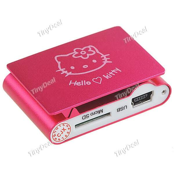 Kitty Mini MP3 Player Music Player Clipe