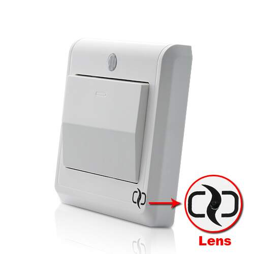 HD Spy Camera Light Switch com Controle Remoto GSM w / Motion Detection e alertas MMS