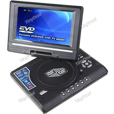 TFT-LCD 180 Degree Rotary Screen Portable DVD Media MP3 MP4 Player with TV Game Function+ SD/MMC
