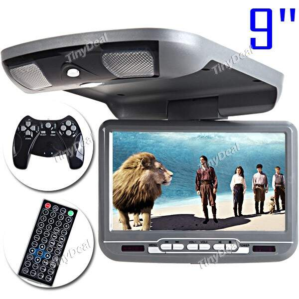 FT-LCD Screen Roof Mount Car DVD Media Player with TV FM Transmitter Function+ MS/SD/MMC