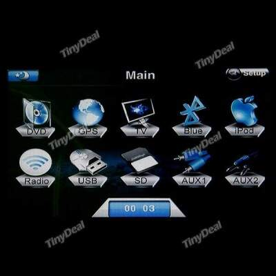 Color Touch Screen 1 Din In-dash Car DVD Player with TV Bluetooth GPS AM FM Radio