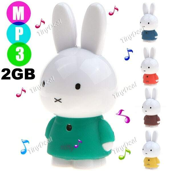 Estilo Miffy 2GB MP3 Player Multimedia Player Music Player