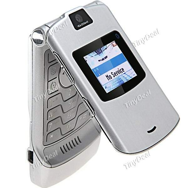 V3 Flip Style Mobile Cell Phone+ GSM 850/900/1800/1900MHZ Unlocked Camera Bluetooth