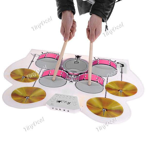Portable USB MIDI de silicone suave Eletrônico Roll-up Drum Pad