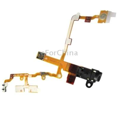 Versão Original Preto Headphone Audio Jack Flex Cable fita para o iPhone 3G/3GS