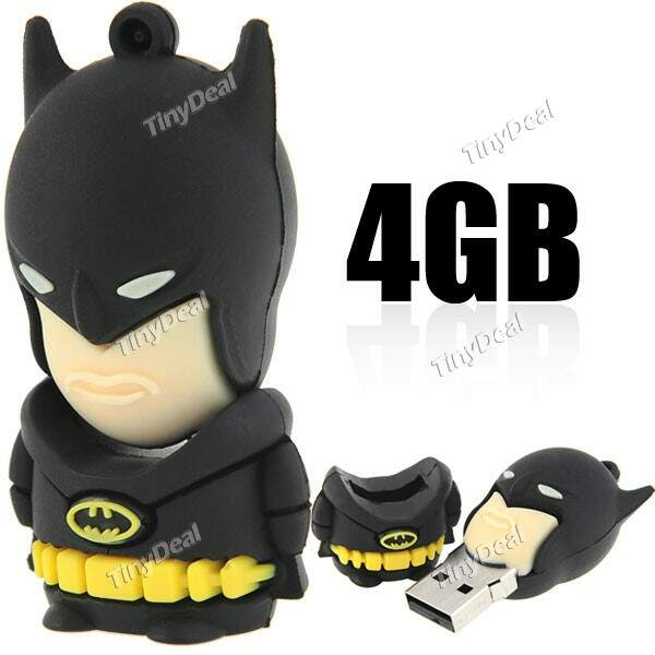 4GB Estilo Batman USB 2.0 Samsung chip de memória flash drive USB Flash Drive de Disco Disco