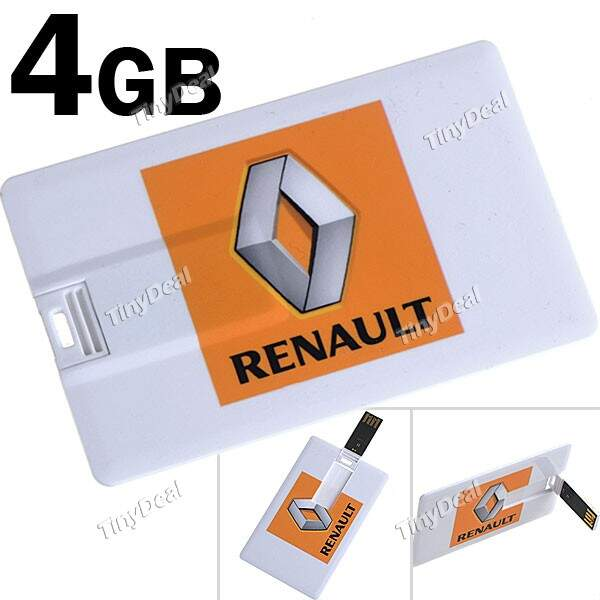 Logo Renault Business Card Estilo 4GB de memória USB 2.0 Flash Drive de Disco