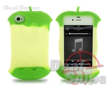 Apple Core Series iPhone 4 e 4S Casos de silicone - Verde