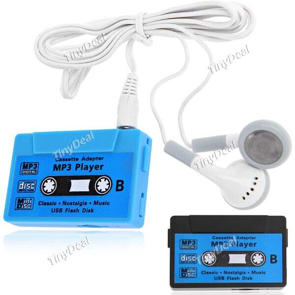 Cassette Tape Forma Esporte Mini MP3 Player Digital Music Player com slot para cartão TF