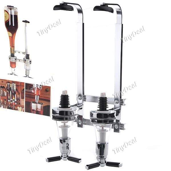 Wall Mounted Wine Bar Butler 2-Bottle Plano de álcool Dispenser Térmicas Set Wine titulares Ferramenta Festa HLI-190557
