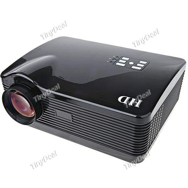 Portátil LED Projector Media Player com HDMI / AV / TV / S-Video / VGA / SD / USB Slot para Home Office - Preto YMP-195098