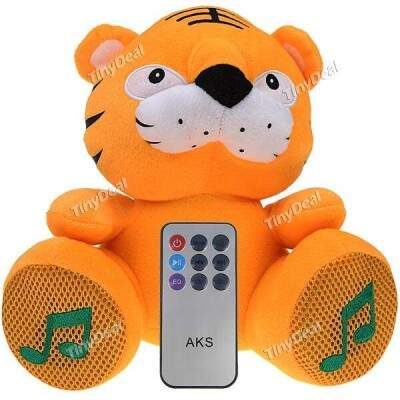 Tiger Estilo Boneca Altifalantes com porta USB / TF Card Slot