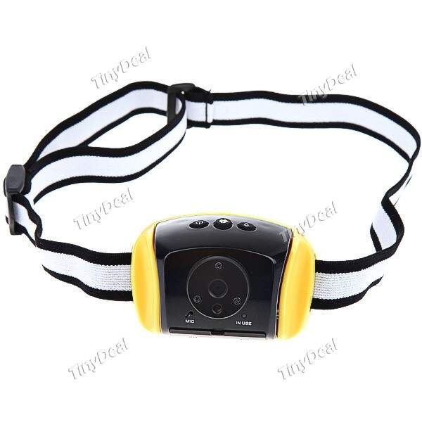 AT30 1.3 Mega Pixels CMOS Sensor 2GB impermeável ao ar livre Laser Capacete Mini DV DVR Video Camera Camcorder RCM-200546