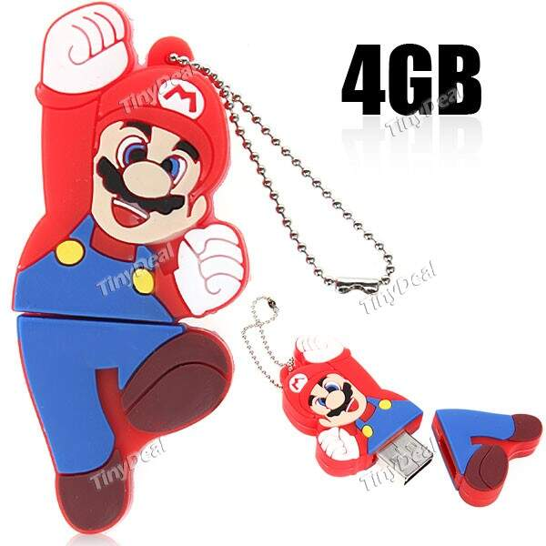 4GB Super Mario Series High-speed USB 2.0 Flash Disk Drive Memory Stick Disk Disk U com Box