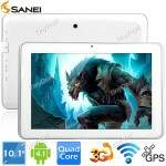 "(SANEI) N10 10.1 \""IPS tela Android 4.1 4GB Qualcomm Quad-core 3G Tablet Telefone w / WiFi Bluetooth GPS CPU 1.2GHz L-194159"