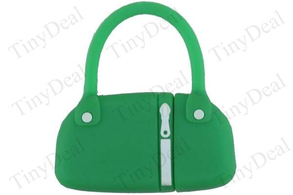Moda Verde Diminutive Rubber Bag Shaped 8GB USB 2.0 Flash Drive Memory Stick U Disk AUD3-8G