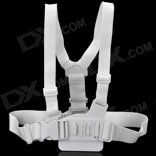 Adjustable Chest Strap Mount Belt para GoPro HD Hero1 2 3 - Branco