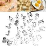 26pcs letras do alfabeto Forma Mould Fondant biscoito Mold bolo Set Cortador + Box HKI-223294