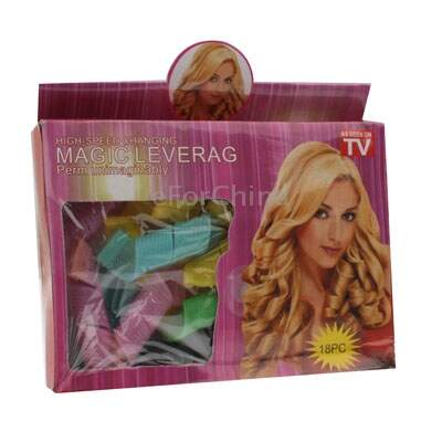 18 x Magia Leverage Círculo Hair Styling Rolo Curler