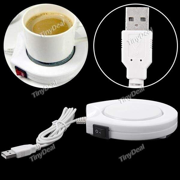 Portable USB Warmer Eletrônico Coffee Milk Tea Cup Warmer Aquecimento Pad Placa Mat Cup Warmer
