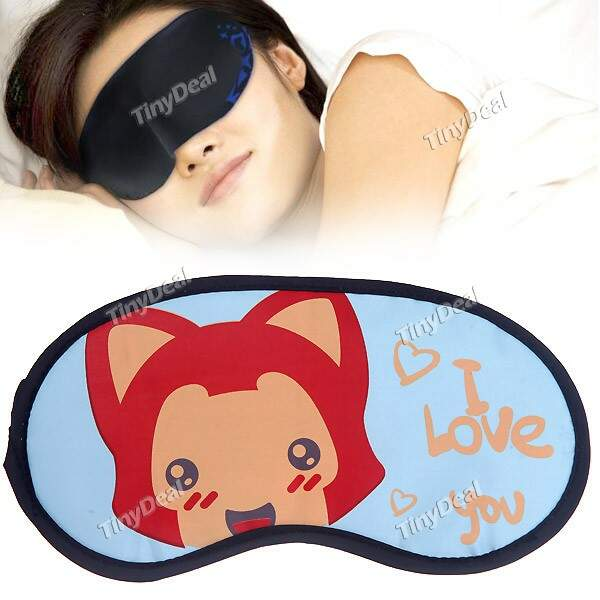 Goggles Eyeshade Eye Patch Blinder with Eiffel Tower Pattern
