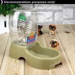 Utility Automatic Drinking Water Dispenser Bottle destacável com Dish Feeder para Cães e Gatos IPA-171485