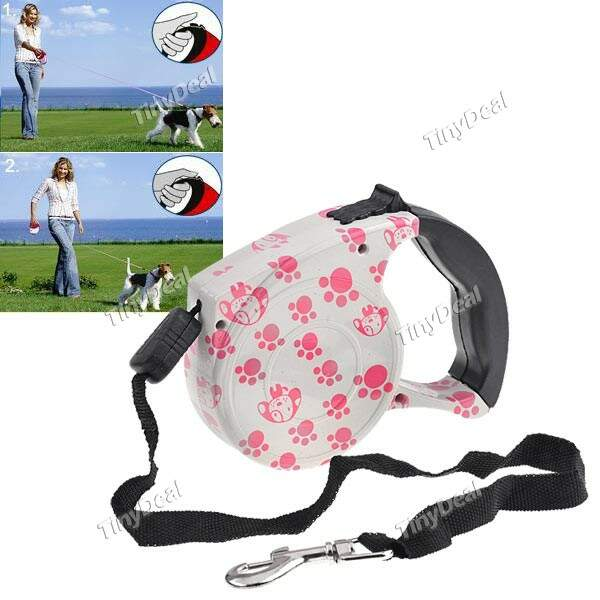 16,5 pés Leash Dog Auto-retrátil com parada para Dog Pet IPA-119301