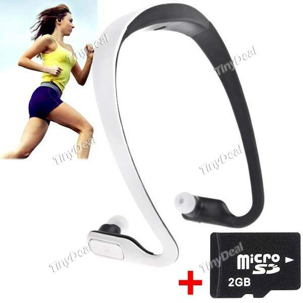 Headset Fone de ouvido Sports Correndo MP3 Music Player + 2GB Micro SD TF KB-275732