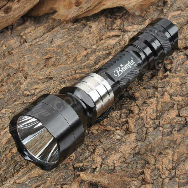 Brinyte C7 Cree XP-E R2 208lm Green Light Hunting Flashlight - Black (1 x 18650 / 2 x 16340)